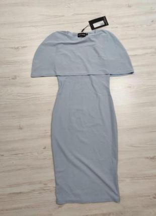 Ликвидация товара 🔥 нежное платье до колен голубое с интересны...