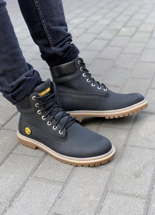 Мужские зимние ботинки timberland 205,кожаные тимберленд