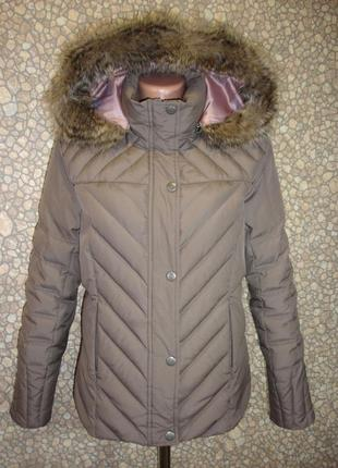 "Пуховая теплая куртка (с натуральным мехом ) ""marks & spencer"""