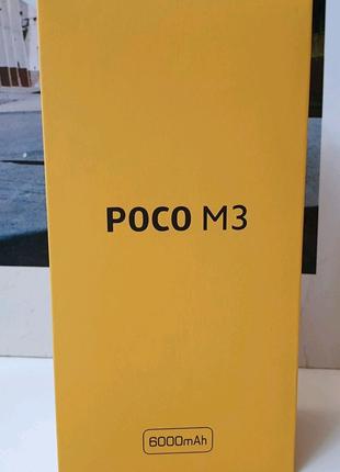 НОВИНКА смартфон Xiaomi POCO M3 4/64 Cool Blue +Подарки +Гарантия