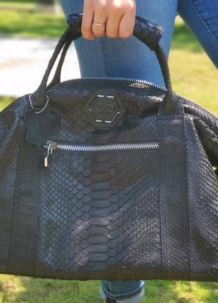 Дорожная сумка от UniquePiton из натуральной кожи питона