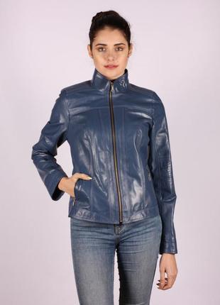 Куртка кожаная натуральная демисезонная женская большой размер...