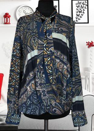 Блуза с запахом и бантом с платочным принтом river island