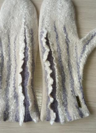 Варежки валяные 100% шерсть