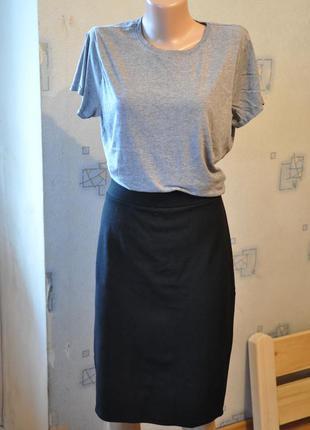 Черная юбка юбка-карандаш карандаш миди ниже колена стрейчевая