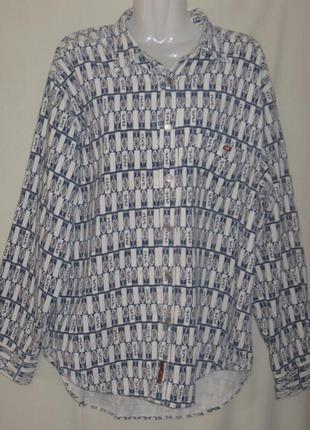 Рубашка женская с длинным рукавом, теплая, большой  58 размер.