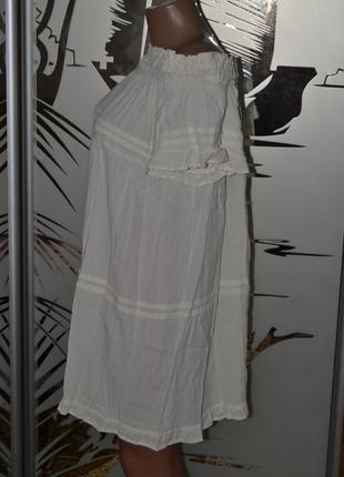 Платье сарафан молочный