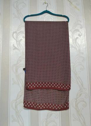 Шикарный широкий шелковый шарф, 100% шелк, италия