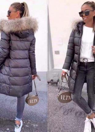 Пуховик длинный. куртка женская зима