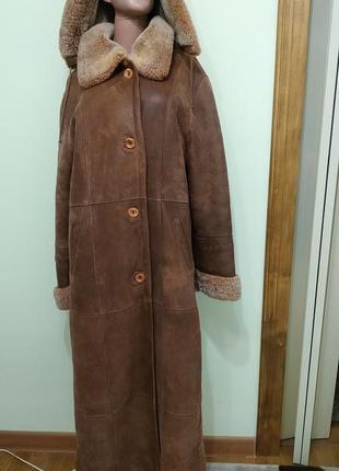 Дублянка куртка зима осень женская длинная