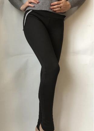 Модные женские лосины на флисе теплые леггенсы теплые штаны