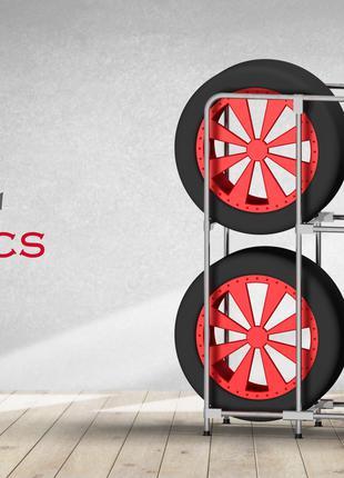 Модный стеллаж для хранения колес - (Model-1324LS)