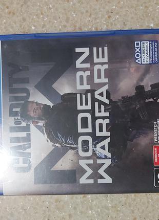 Игра на PS4 CALL of DUTY modern warfare