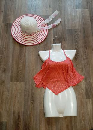 Пляжный розовый топ бренда NEW LOOK 46-48 размера.