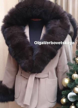 Пальто с мехом песца, пальто с песцом, пальто с мехом, разные ...
