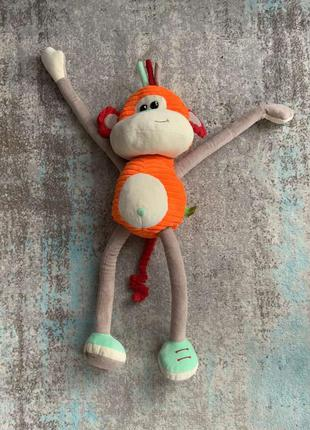 Мягкая игрушка обезьянка левеня