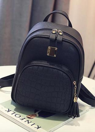 Молодежный женский городской рюкзак из pu кожи с кисточкой mer...
