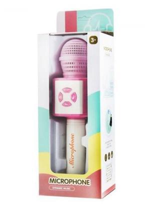 Детский микрофон с караоке световыми эффектами + динамик к тел...