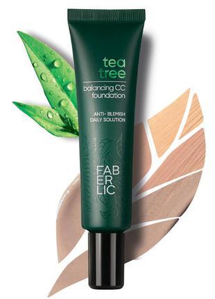 Тональное средство для лица tea tree balancing cc glam team