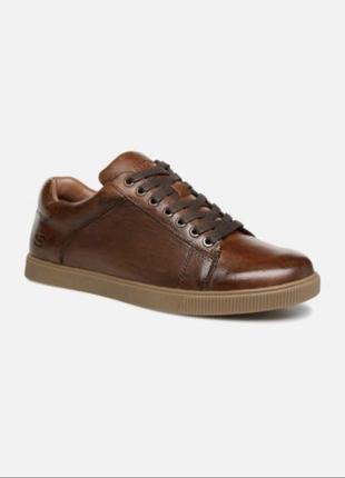 Кожаные мужские спортивные туфли кроссовки