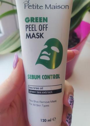 Зелёная маска-пленка для лица для проблемной кожи 120 мл турция