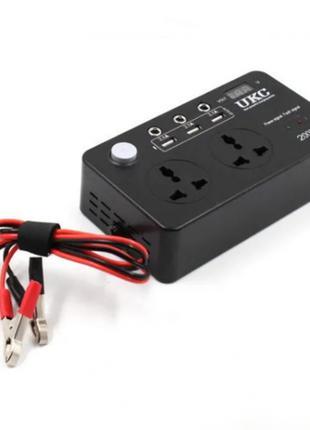 Инвертор преобразователь UKC с 12 на 220 вольт 200W