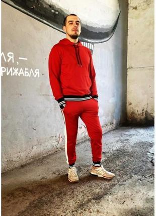 Легкий балахон red and dog head stripe red