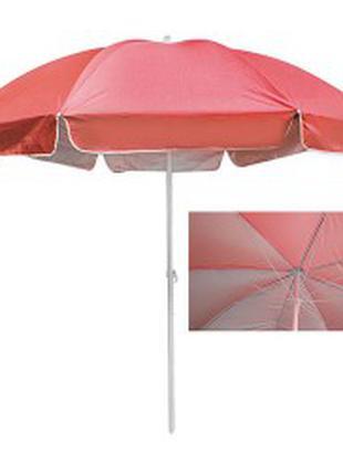 Зонт пляжный d3,0м спицы карбон, серебро MH-3323-R