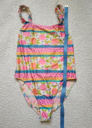 Слитный купальник для девочки 7-8 лет