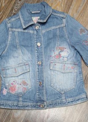 Джинсовая куртка next на девочку 7-8 лет в идеальном состоянии