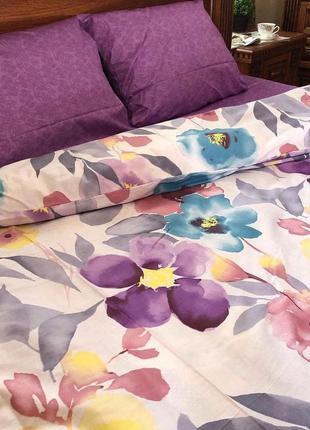 Комплект постельного белья с цветами