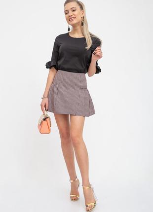 Короткая клетчатая юбка розово-черного цвета L M S XS