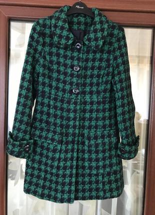 Тренч пальто шерстяное стильное модное hm размер s