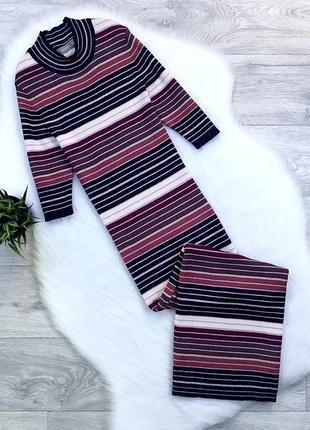 Платье-гольф миди с люрексовой нитью