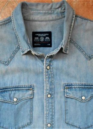 Рубашка джинсовая american eagle  оригинал
