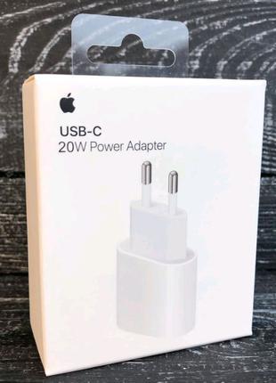 Зарядка Apple Power Adapter USB-C 20W Быстрая Зарядка iPhone