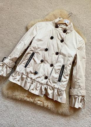 Love moschino 🇮🇹 италия, демисезонная бежевая куртка.
