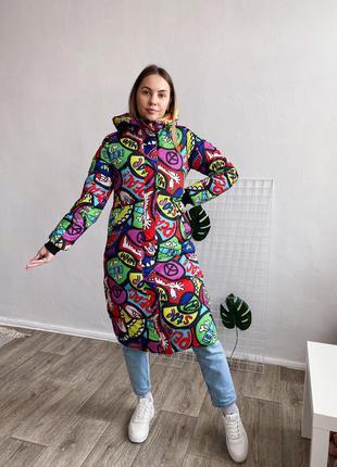 Женское дутое пальто