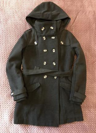 Суконное зимнее пальто размер s, укороченное женское пальто
