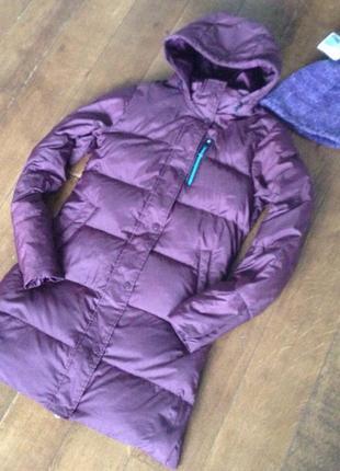 Женский длинный пуховик-пальто с капюшоном + подарок nike зимн...