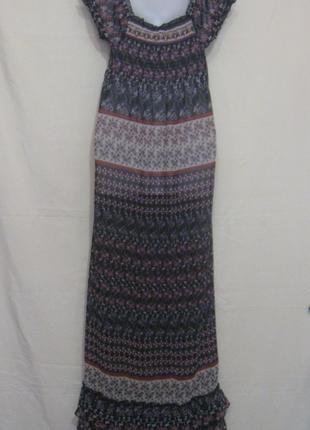 Платье с рюшами макси в пол, летнее, лёгкое, суперское.38р Дешево