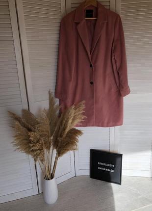 Розовое пальто  new look размер:46{xl}
