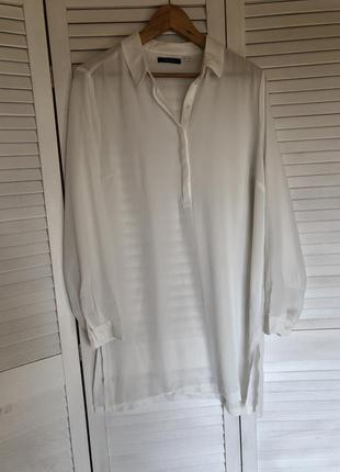 Белая удлиненная рубашка esmara размер: 44(xl)