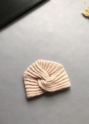 Вязаная шапочка чалма