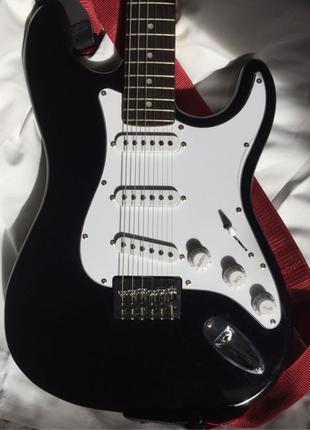 Електрогітара Fender Squier MM STRAT HT BLACK