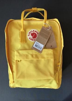 Рюкзак fjallraven kanken 16l burnt yellow, оригинал