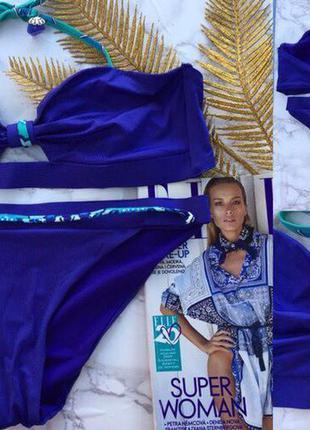 Синий купальник h&м