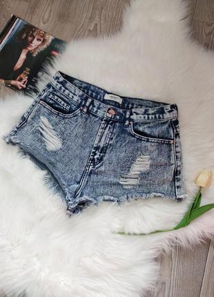 Трендовые короткие открытые джинсовые шорты шортики рваные