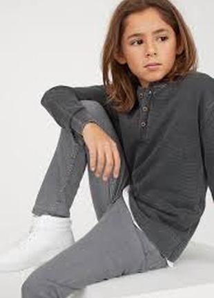 H&m серые джинсы скинни для мальчика р.158