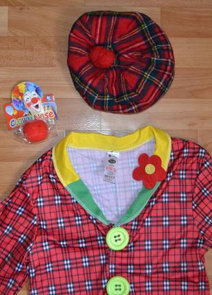 Карнавальный костюм клоун на 10-12 лет, костюм клоуна